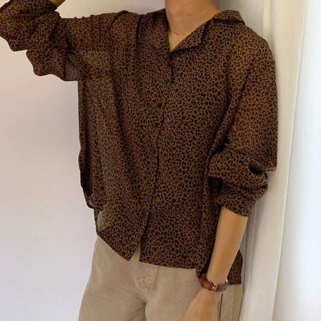 leopard open collar shirt (2color) [TOP19AW0084]