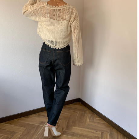 high-waist diagonal stitch denim (2color) [BT20SS344]