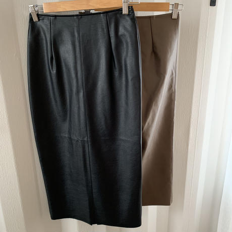 fake leather tight skirt [TOP19AW0164]