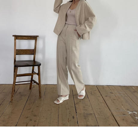 tuck ruff  pants (2color)  ◇setup可[BT21SS638]