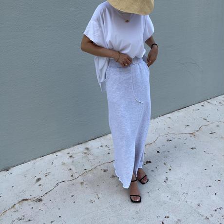 sweat slit skirt [TOP21SS757]