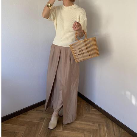 front design long skirt (3color)[BT20SS365]