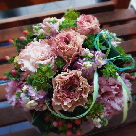 大人かわいいピンク系 arrangement