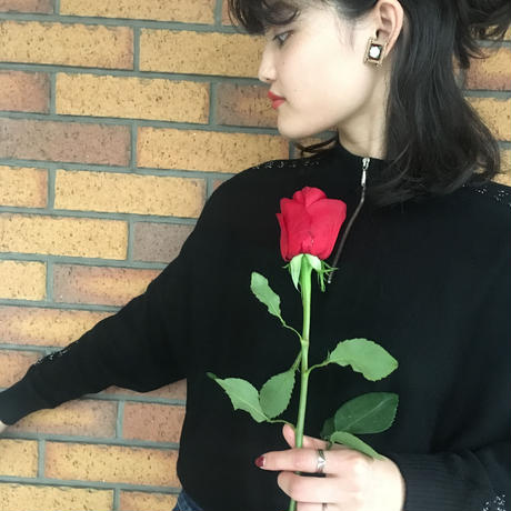 Clear Rose Earrings