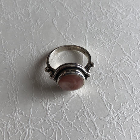 Pink Shell Silver Ring