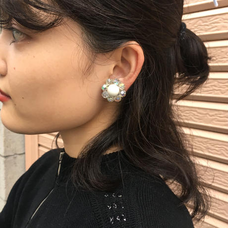 White Beads Earrings