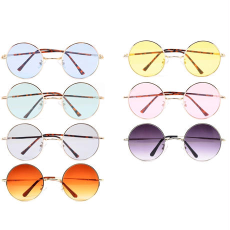 【7color】round color sunglasses