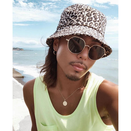 【4color】square round metal sunglasses