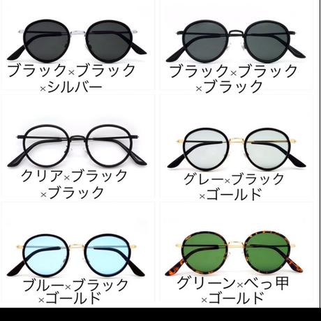 【全6色】ラウンドタイプサングラス