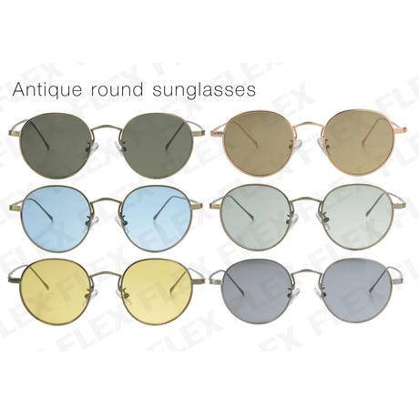 【6color】antique round metal