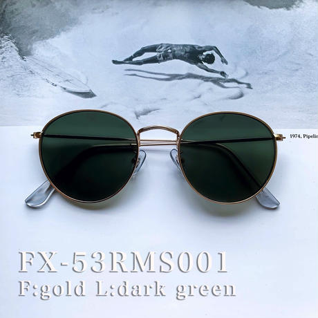 【5color】round metal color sunglasses(53mm)