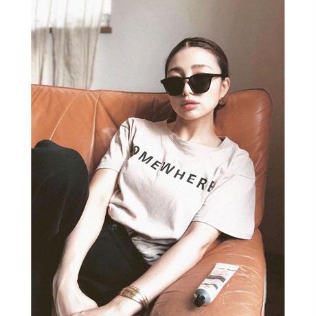 【4color】square frame sunglasses