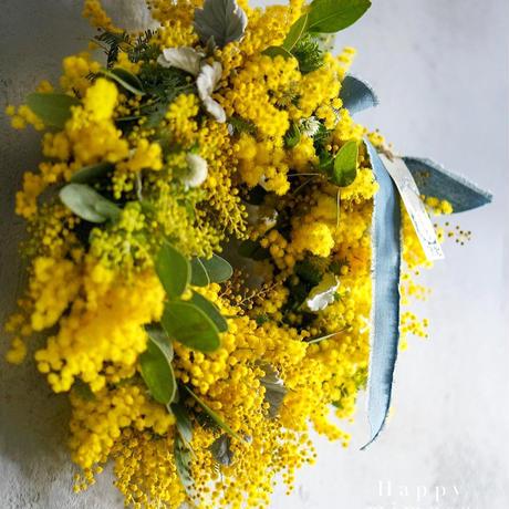 Mimosa wreathe