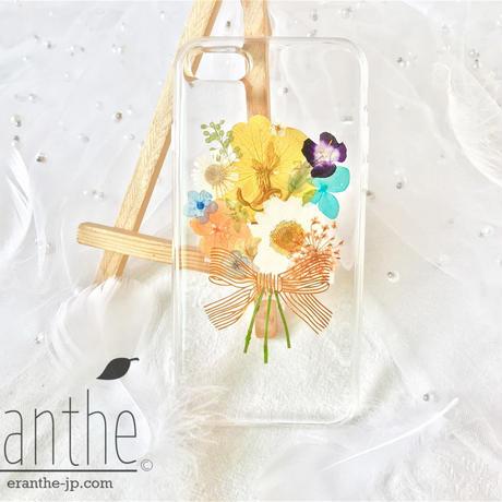 〖花束〗 誕生日・記念日のお祝い 押し花 ドライフラワー スマホケース ケース