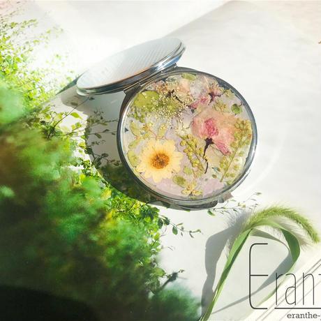 押し花のコンパクトミラー /  手鏡 / ミラー