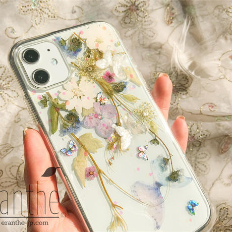 フレッシュな香りが漂う 押し花 スマホケース 全機種対応 iPhone / Xperia / Galaxy / AQUOS