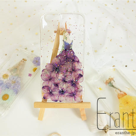 紫陽花 ウエディングドレス  スマホケース