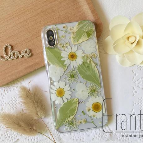 シンプル 押し花 フルーツ スマホケース iPhone / Xperia / Galaxy / AQUOS