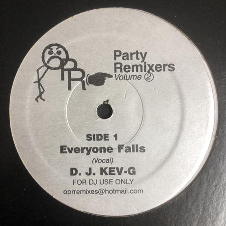D.J. Kev-G ‎– Party Remixers Volume 2 - Everyone Falls (12)