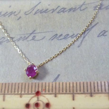 K18  oval ruby necklace -limited-