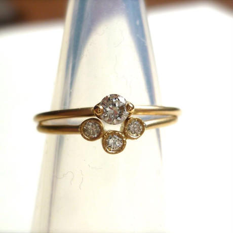 K18 diamond ring #add