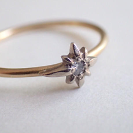 K18 diamond ring #shooting star