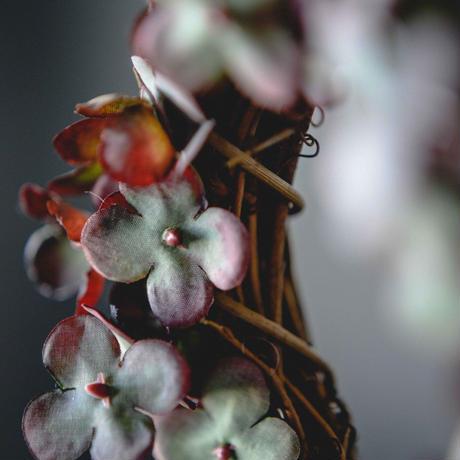 シナモンとアンティーク紫陽花のリース