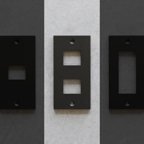 SML コンセントプレート(2口タイプ)|ブラック