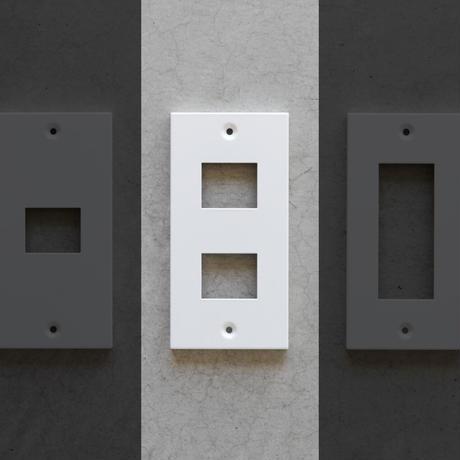 SML コンセントプレート(2口タイプ)|ホワイト