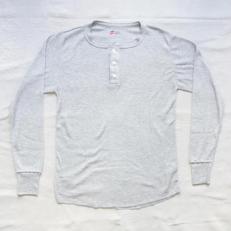 Hanes Thermal Henley Neck Long Sleeve Tee for men's