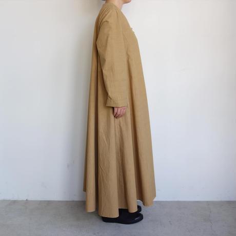 FACTORY 綿ブロードフレアーロングドレス