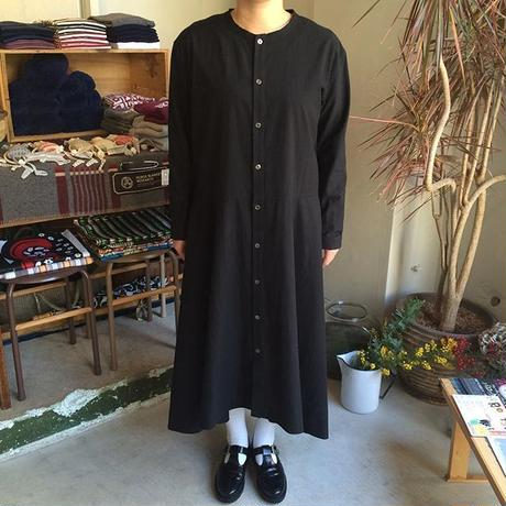 FACTORY ペルー綿 ノーカラーロングシャツ