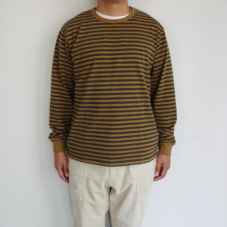 nanamica COOLMAX St. Jersey L/S Tee (brown/charcoal)  for men's
