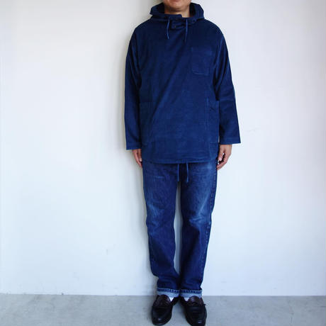 Slow Hands fine corduroy hooded smock shirts