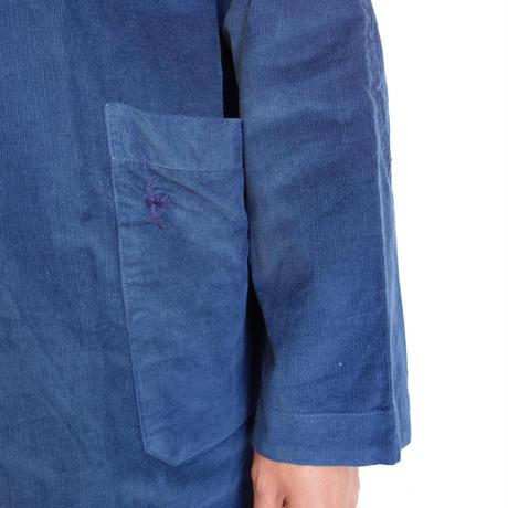 Slow Hands fine corduroy hooded smock shirts