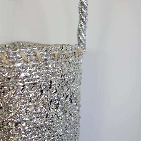 RECTANGLE Silver Basket (Mini Shoulder)