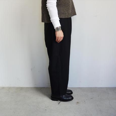 koton TOPツイル起毛 タックパンツ (black)