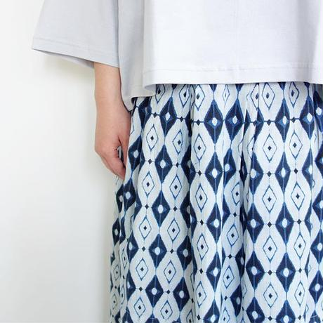 Slow Hands Indigo block print poofy skirt