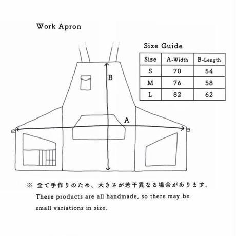 【一点物】リメイク道着のワークエプロン001(朽葉色/Medium)