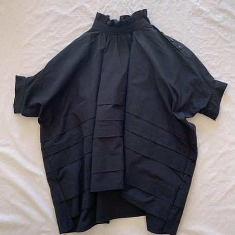 frill high neck tuck shirts