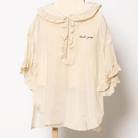 taffeta blouse col.ベージュ F(大人サイズ)