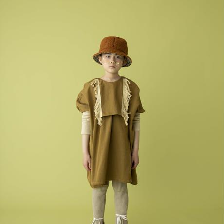 fringe dress カーキベージュ