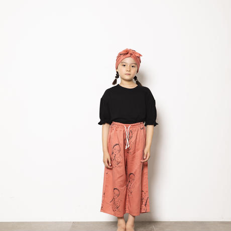 face print pants col.ベージュ・ピンク
