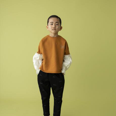 switch pullover オレンジブラウン