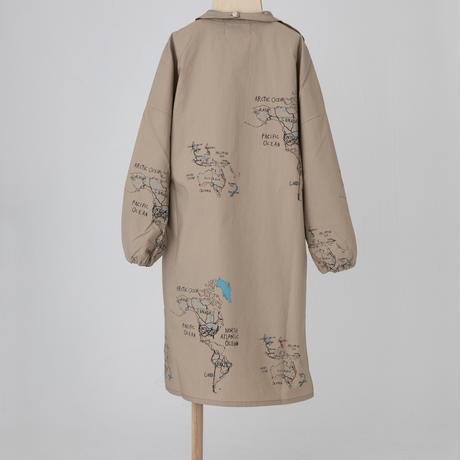 map pattern gilet dress 大人サイズ