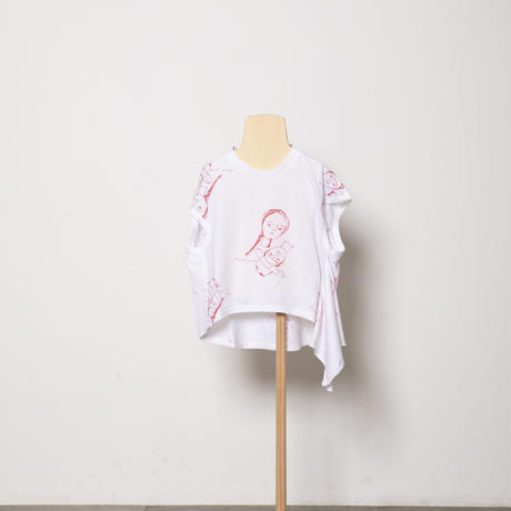 face print scarf T-shirts S・ M・Lサイズ