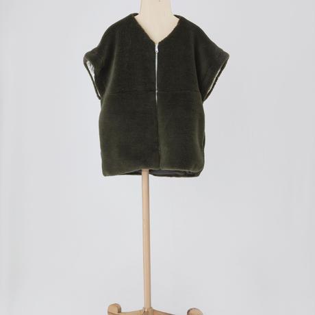 removable boa coat カーキ Lサイズ