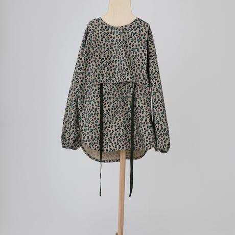 leopard tunic shirt ベージュ