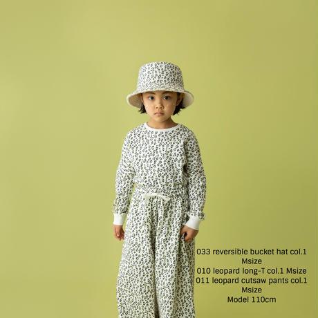 leopard cutsaw pants ホワイト Mサイズ