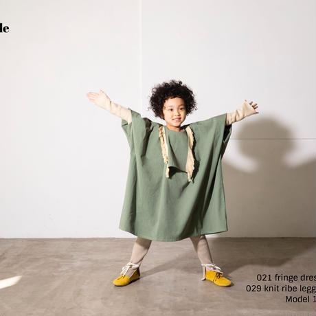 fringe dress モスグリーン  LLサイズ